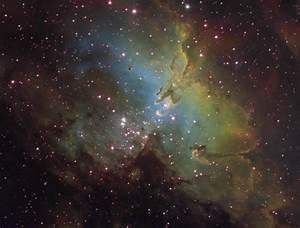 M16 Eagle nebula NGC 6611 sh2-49 astrophotography CCD ...