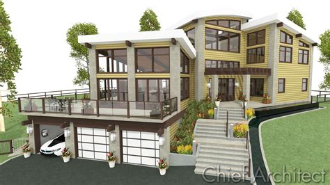 ranch style house plans with walkout basement chief architect home design software sles gallery