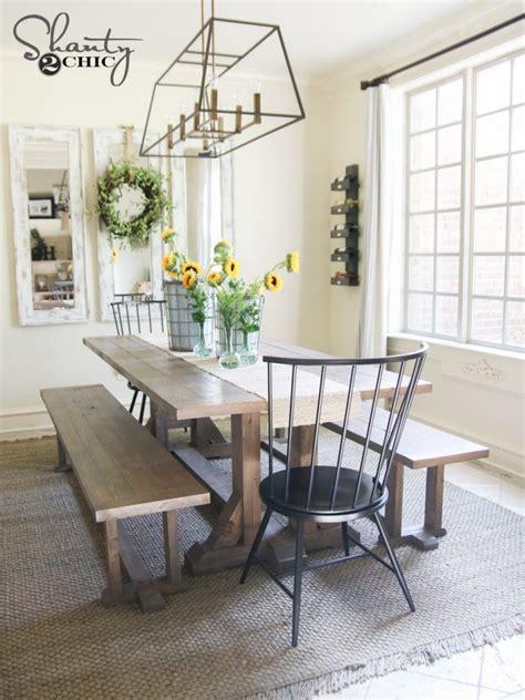 diy pottery barn inspired dining table   shanty