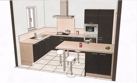 nouveau plan de la cuisine aménagée les é de