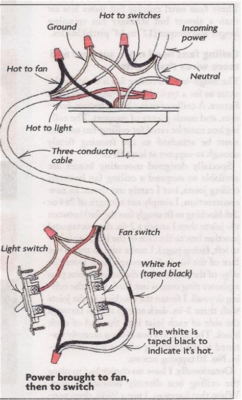 how to hook up a ceiling ceiling fan switch wiring diagram useful info how to 39 s