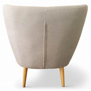 Fauteuil design quotdoehquot 82cm beige for Fauteuil design beige
