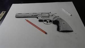 Realism Practice Gun Drawing 357 Magnum