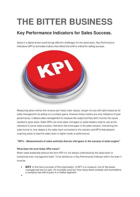 Key Performance Indicators For Sales