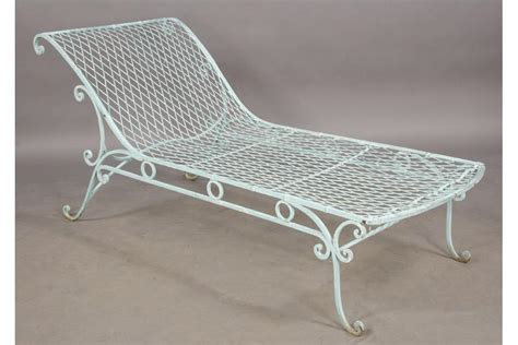 chaise metal vintage vintage wrought iron garden chaise lounge