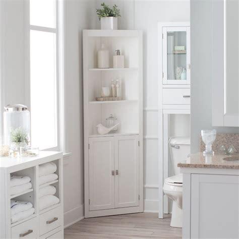 Corner Bathroom Cabinet by Bathroom Linen Cabinet Tower Corner Bath Storage Organizer