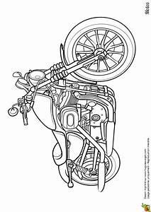 Image De Moto : dessin imprimer et colorier d une superbe moto routi re ~ Medecine-chirurgie-esthetiques.com Avis de Voitures