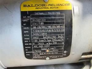Gast Baldor 35j337y331 R5325a 460v Vacuum Pump