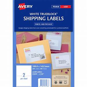 avery laser shipping labels white 100 sheets 2 per page With avery half sheet shipping labels