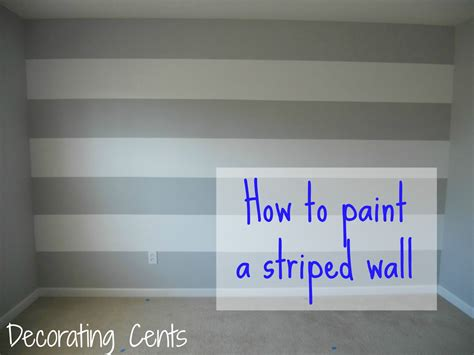 Streifen Auf Wand Malen by Painting A Striped Wall