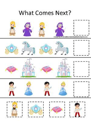 cinderella activities for preschool cinderella themed what comes next preschool learning 918