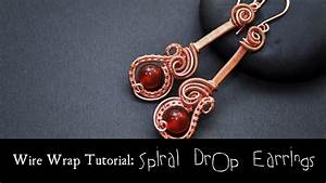 Beginner Wire Weaving Tutorial Spiral Drop Earrings