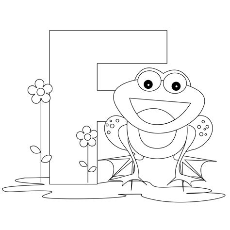 free printable alphabet coloring pages for best 517 | alphabet coloring pages Letter F