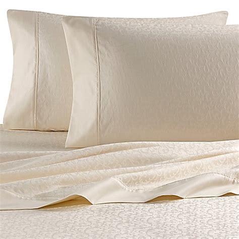 wamsutta sheets buy wamsutta 174 620 thread count egyptian cotton jacquard california king sheet set in white vine