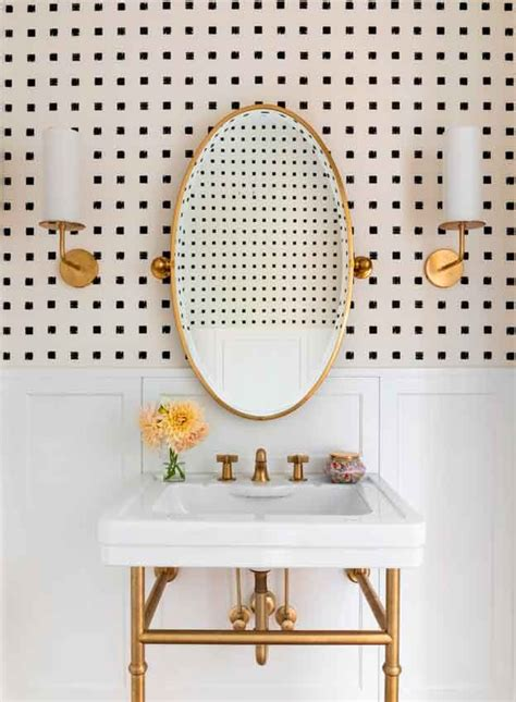 papeles pintados  decorar el cuarto de bano como