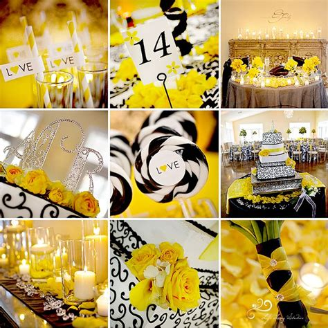 15 best images about weddings in yellow and black on