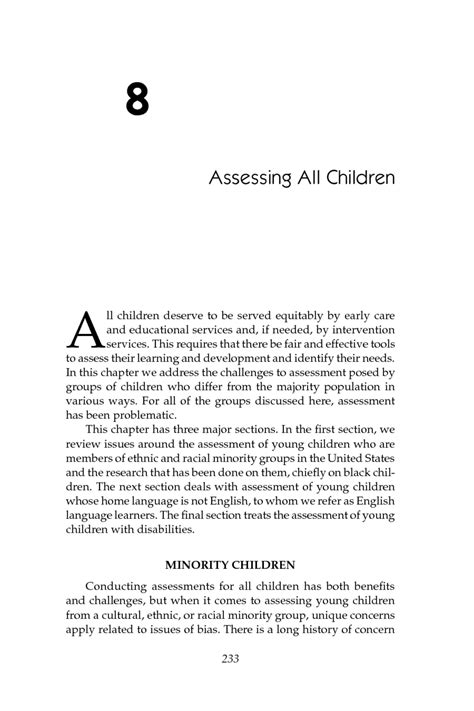 8 Assessing All Children   Early Childhood Assessment: Why