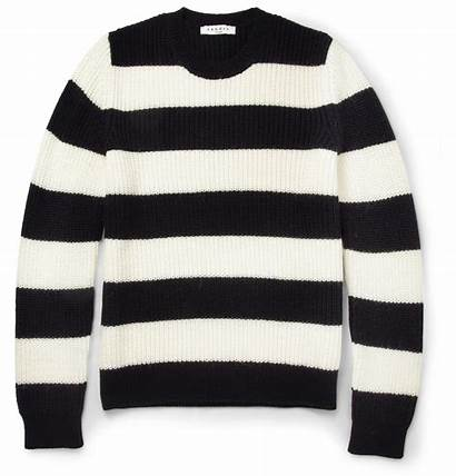 Sweater Striped Knitted Sandro Neck Crew Sweaters