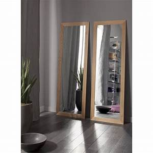 miroir nakato inspire chene l40 x h140 cm leroy merlin With carrelage adhesif salle de bain avec eclairage led placard ikea