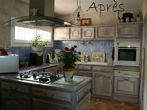 repeindre meubles cuisine relooker cuisine rustique avant apres 14 repeindre