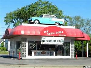 St Joseph MI Car on Drive Thru Roof
