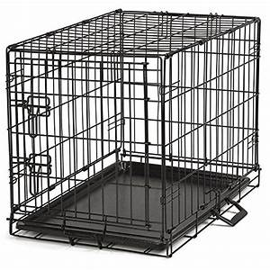 proselect easy dog crates for dogs and pets black small With medium size dog crate
