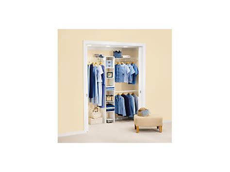 5 8 ft closet kit with laminate tower rubbermaid