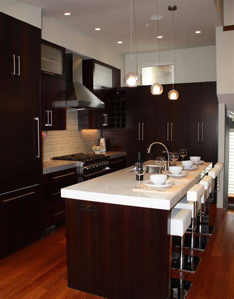 espresso kitchen cabinets with backsplash modern espresso cabinets modern kitchen a s d interiors