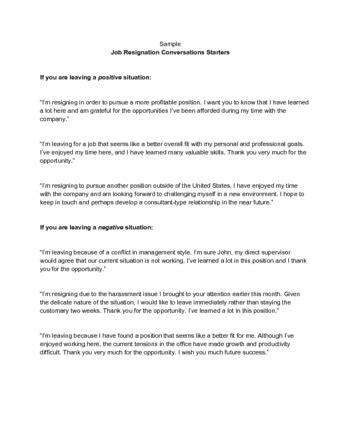 quit  job   resignation letters