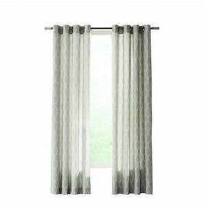 Home Decorators Collection Gray Modern Lattice Curtain ...