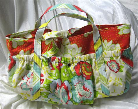 puffy pockets tote diaper bag pattern sewing projects burdastylecom