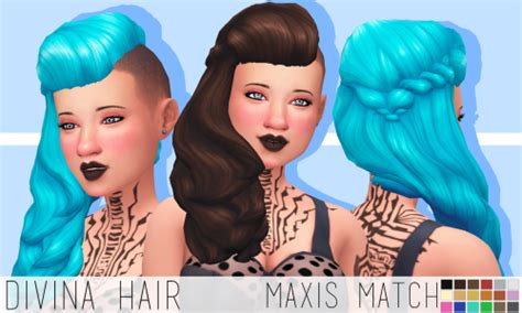 my sims 4 blog davina hair for females by chocolatemuffintop