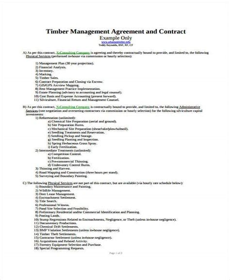 management contract templates word docs
