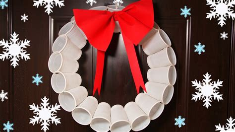 plastic cups christmas tree recycled crafts plastic cups wreath tree ornaments