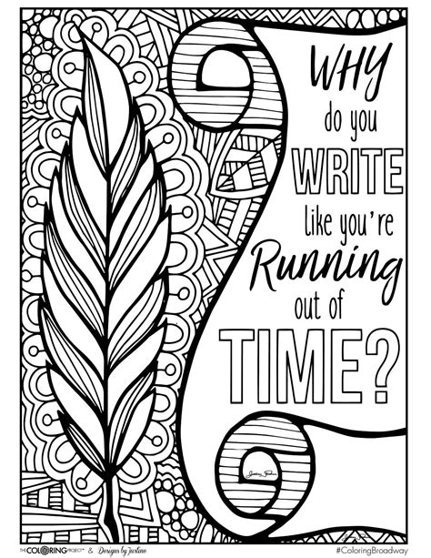 Page printable evan coloring page greatest showman coloring pages theatre kids coloring pages free music coloring pages mary coloring pages piano coloring pages musical theater word search musical theater borders musical theater costume ideas musical theater jokes. Coloring Broadway HAMILTON Why do you Write Note Card