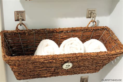 Small Storage Baskets Bathroom by Window Box Bathroom Storage For A Small Bathroom