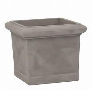 Pots En Terre Cuite Carrefour : pot carr imitation terre cuite coloris pierre poterie ~ Dailycaller-alerts.com Idées de Décoration