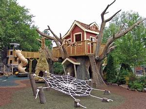 Elevated Tree House And Lighthouse Playground