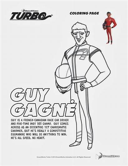 Turbo Coloring Pages Gagne Dreamworks Guy Printable