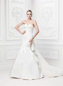 truly zac posen strapless duchess satin fit and flare gown With truly zac posen wedding dress