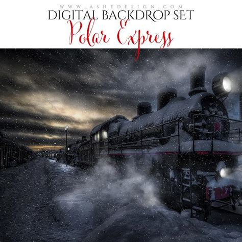digital props  backdrop set polar express ashedesign
