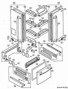 Door Parts Diagram  U0026 Parts List For Model 79575553401