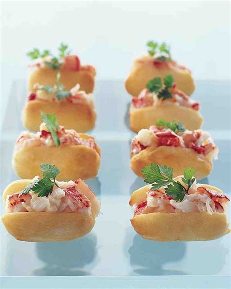savoury canapes wedding cocktail hour recipes martha stewart weddings
