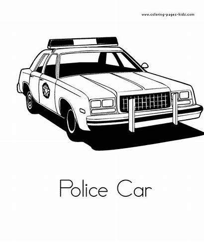 Coloring Pages Cars Police Colouring Sheets Printable