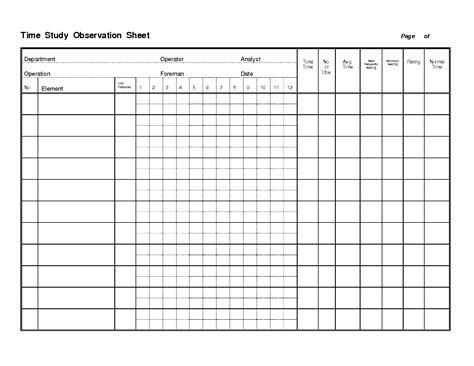 time study template lisamaurodesign