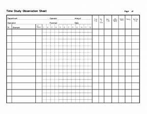 time study template lesupercoin printables worksheets With time studies template