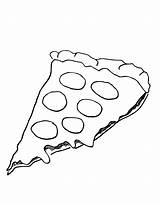 Pizza Coloring Pages Slice Clipart Cheese Printable Hut Sheet Drawing Template Pepperoni Pepporoni Printables Topping Cartoon Cheesy Sketch Popular Clip sketch template