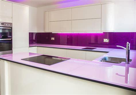 pink and purple kitchen glass worktop splashback pink purple contemporary kitchen london by creoglass design