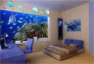 Idée Peinture Chambre Adulte : idee deco chambre adulte peinture beige aquarium ~ Preciouscoupons.com Idées de Décoration