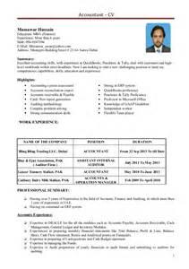 financial accountant cv exle accountant cv 1